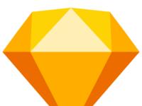 Sketch flat logo