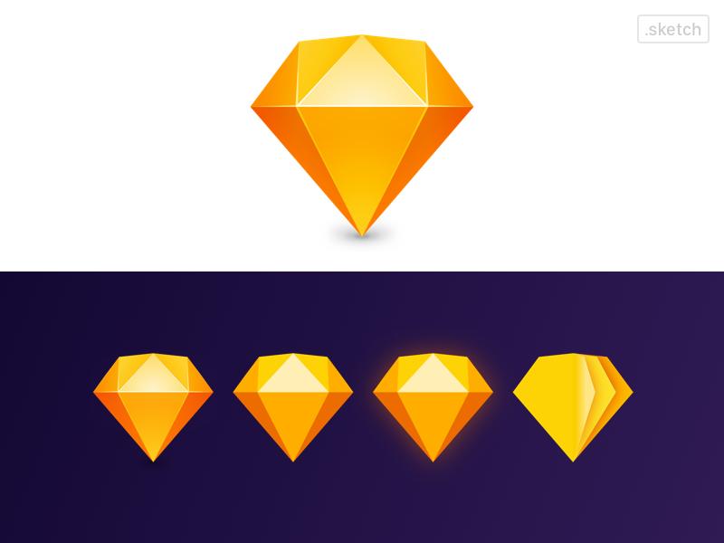 Replicate Sketch New Logo in Sketch 💎 icon diamond identity branding sketchapp logo sketch
