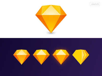 Replicate Sketch New Logo in Sketch 💎 icon diamond identity branding sketchapp logo sketch