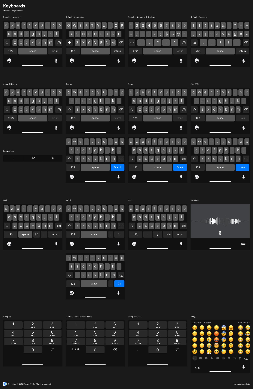 Keyboards dark theme