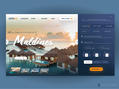 TRAVEL PAGE CONCEPT UI_JD jd travel ui graphic website design website graphicdesign ui design uiux