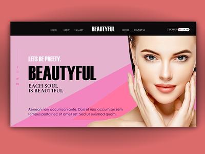 BEAUTY CONCEPT UI_HOME webuiuxdesign uiux uidesign website design ui website logodesign graphicdesign