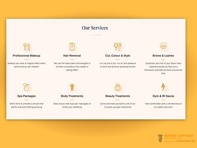 SERVICE ICON PAGE_BEATY SPA business card design illustration design logodesign uiux website design ui website branding graphicdesign