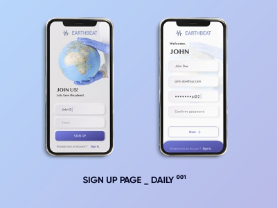 SIGN UP PAGE - Daily UI 001 mobileappdesign apple iphone mockup adobexd website design graphic ui branding logodesign graphicdesign daily 100 challenge dailyui