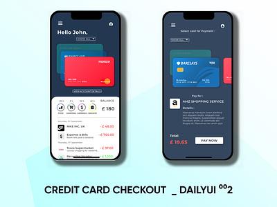 CREDIT CARD CHECKOUT - DailyUI 002 mockup website design business card design uiux logo illustration ui product designer product design graphicdesign dailyuichallenge dailyui 002 dailyui