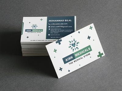 AISH MEDICALS   LOGO DESIGN   BUSINESS CARD website graphic brand logodesign graphicdesign branding business card design business card