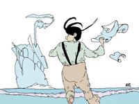Día de playa illustrator color dibujo comic art artwork art dessin cartoon ilustración illustration