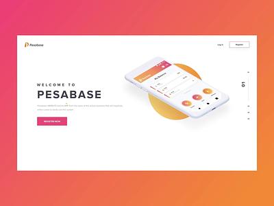 Homepage design for a Fintech startup interface fintech flat app website minimal animation web design ux ui