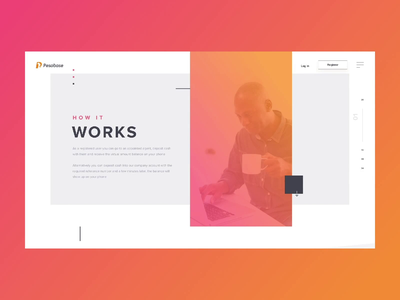 How it works page for a fintech project flat minimal animation fintech interface web design website design ux ui