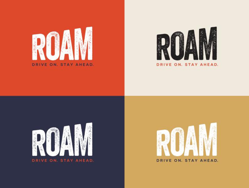 ROAM Brand Identity print design inspiration creative design typography vector logo graphicdesign identity branding