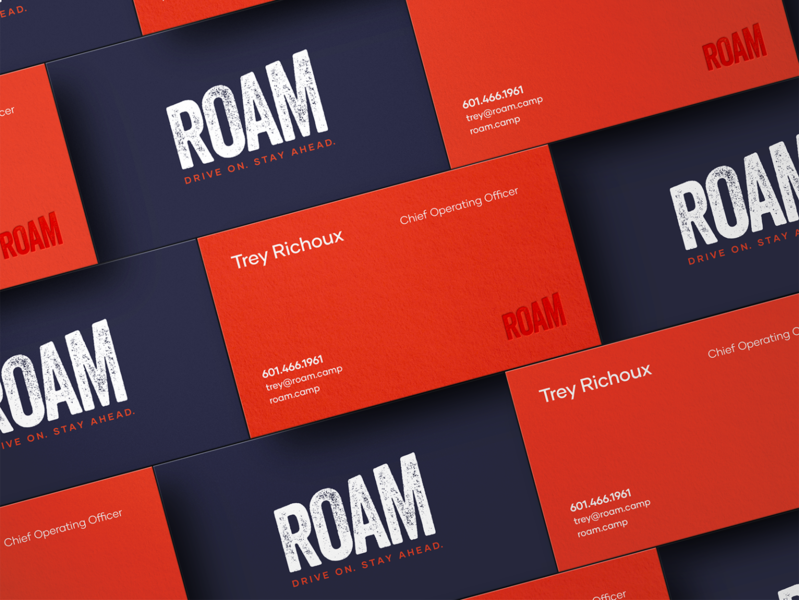 ROAM Business Cards business cards rv hospitality design inspiration design graphicdesign branding collateral print design