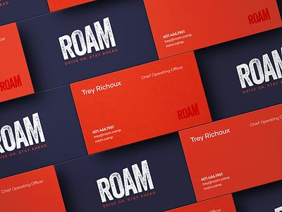 ROAM Business Cards business cards rv hospitality design inspiration design graphicdesign branding collateral print design