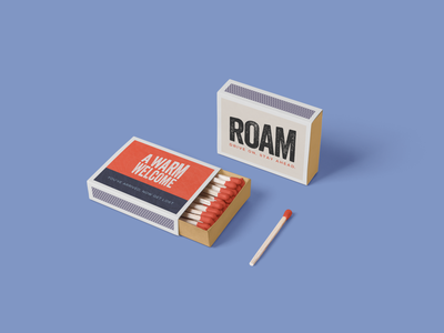003 roam brand welcome kit print creative graphicdesign hospitality design collateral packaging branding