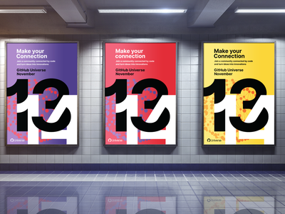 GitHub Universe 2019 Promotional Poster concepts vector creative graphicdesign behance dribble adobe design inspiration subway poster print color bright flat design branding