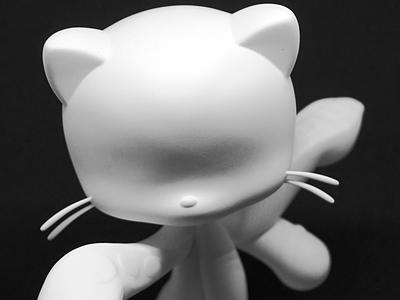 """GitHub Mona """"Blanktocat"""" art inspirational behance designinspiration inspiration dribbble packaging github clean creative visual design white figurine vinyl toy design branding"""