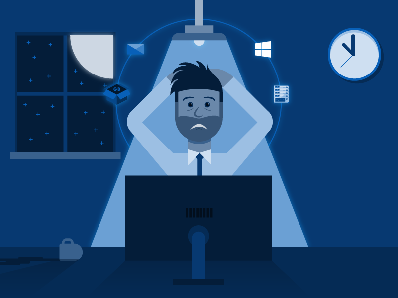Windows 10 OSD Stress by Jesse Rogers on Dribbble