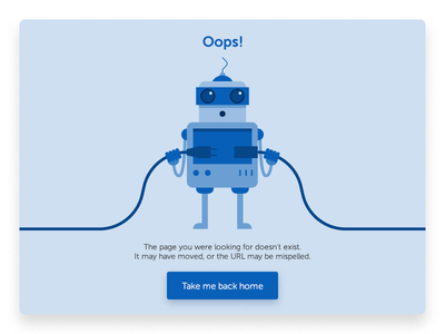 Oops! Website Error Page