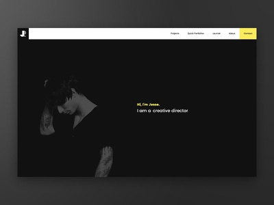 New Website! github responsive yellow photography front end code web development web design ui ux web portfolio