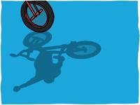 Pro Freestyle BMX Flatland illustration