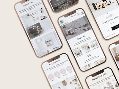 Petite Amélie - Mobile uxui ux design ui design app design ecommerce online shop child baby shop mobile ux ui design