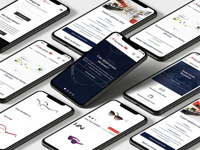 Okularium - UX/UI Design app design app mobiledesign mobile glasses shop uxdesign uidesign design ux ui ecommerce