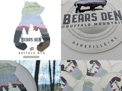 Branding for hospitality client bear logo northcarolina asheville airbnb bearsden bear typography design branding