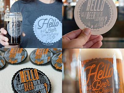 """Hello is it Beer You're Looking For?"" Branding Design brewery branding brewery logo beer branding beer label beer art beer branding asheville illustration typography design"