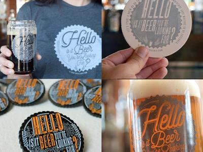 """""""Hello is it Beer You're Looking For?"""" Branding Design"""