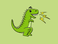 T-Rex with Flashes