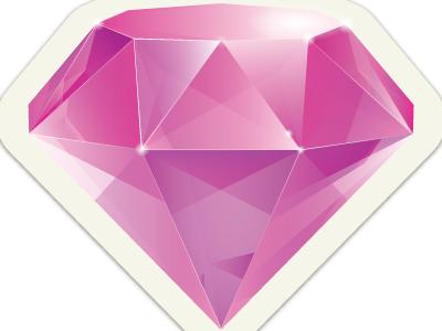 Diamond  diamond adamant pink gift