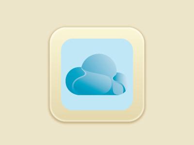 Icon Cloud  icon cloud app blue