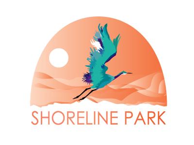Shoreline Park park logo shoreline zoo bird
