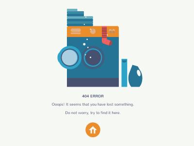 404 Page back page landing design web error 404