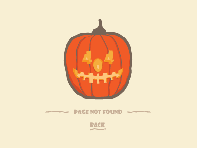 Halloween 404 Error  vector sad flat orange page smile lost pumpkin boo halloween error 404