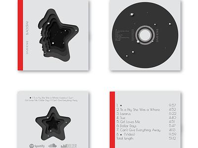 Blacksrat Album redesign design black face music star blackstar bowie david