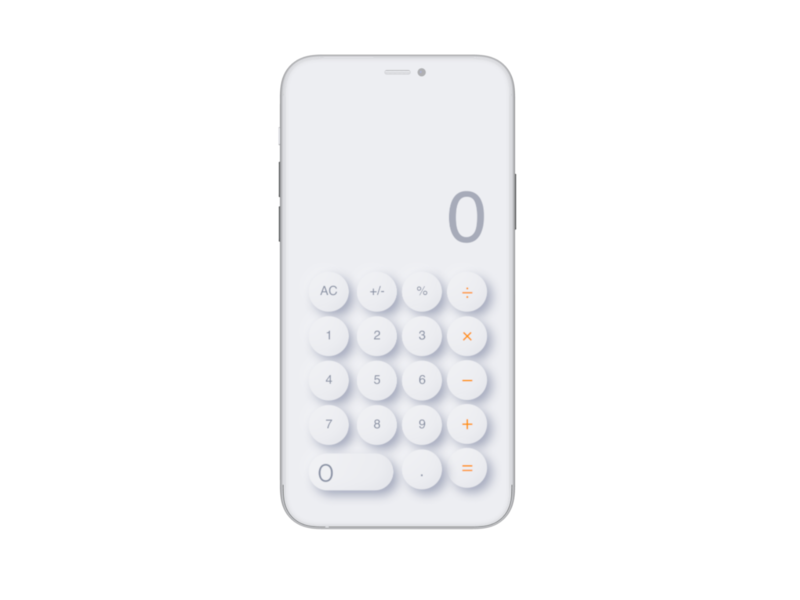 Neumorph Calculator