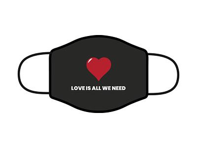 love is all illustration branding design