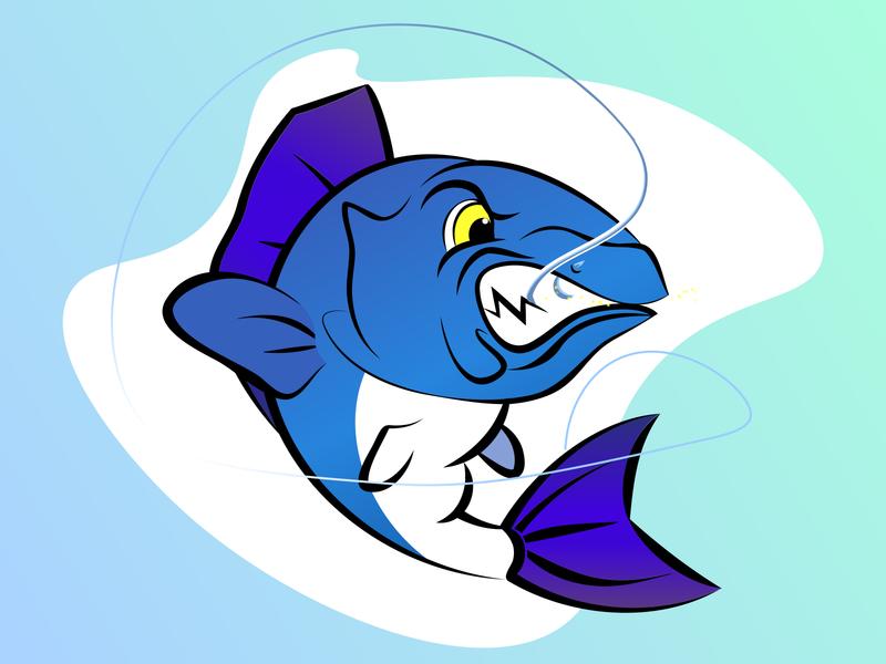 Perch fish logo vector perch logotype logo illustraion fish art