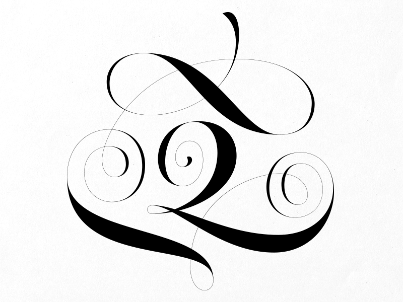Q joelvilasboas lettering script swashes 36daysoftype capital letter