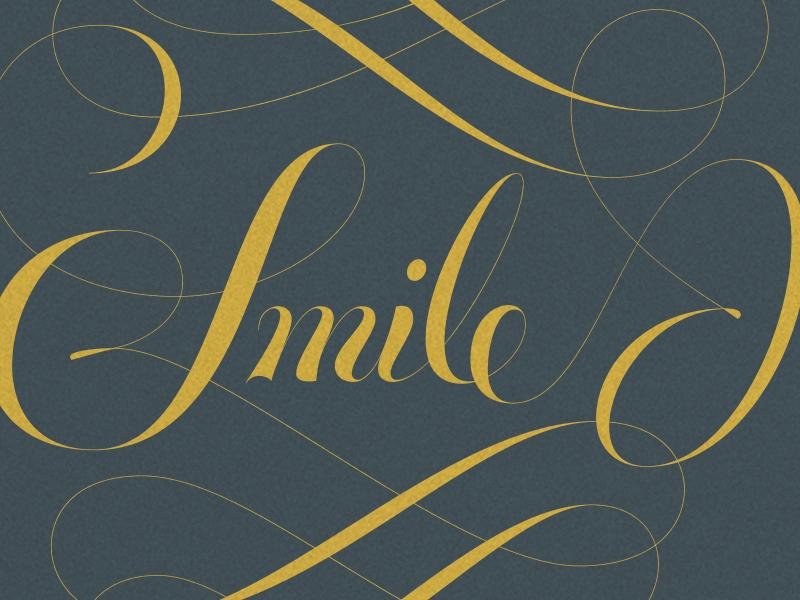Smile swashes script lettering joelvilasboas