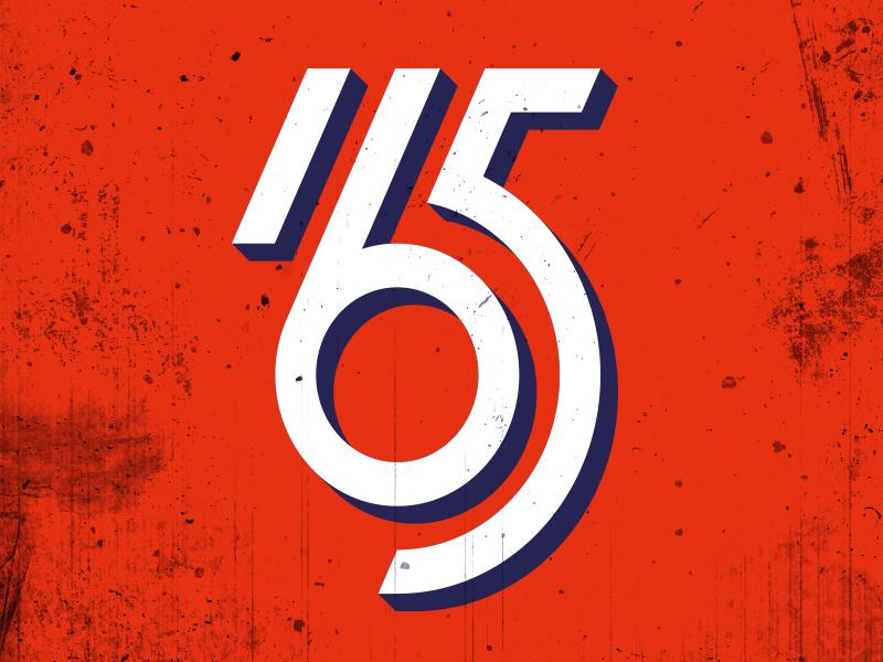 165 old sign custom type lettering logo 165 number joelvilasboas