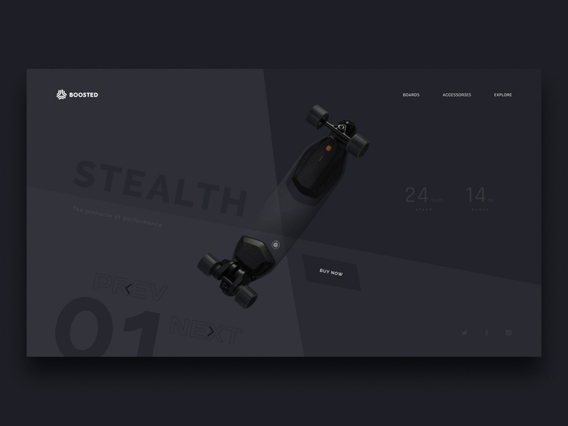 Boosted Stealth Concept