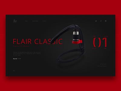 Flair Espresso Concept coffee espresso flair minimalist concept web design web ui design