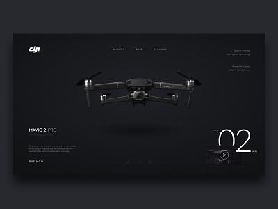 Mavic Pro Concept drone dji mavic minimalist concept web design ui web design