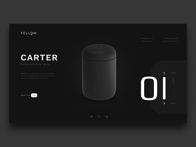 Fellow Carter Concept fellow coffee minimalist concept web design web ui design
