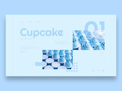 Cupcake Concept cupcake dessert minimalist concept web design web ui design