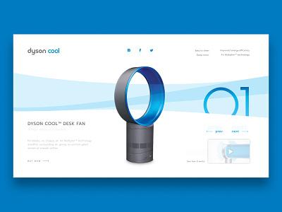 Dyson Cool Concept fan cool dyson minimalist concept web design web ui design