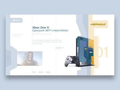 Xbox Cyberpunk Concept cyberpunk xbox one xbox concept web design web ui design