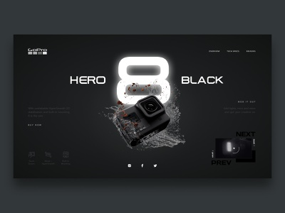 GoPro Hero Concept hero gopro minimalist concept web design web ui design