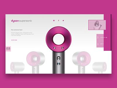 Dyson Supersonic Concept hair dryer dyson minimalist concept web design web ui design